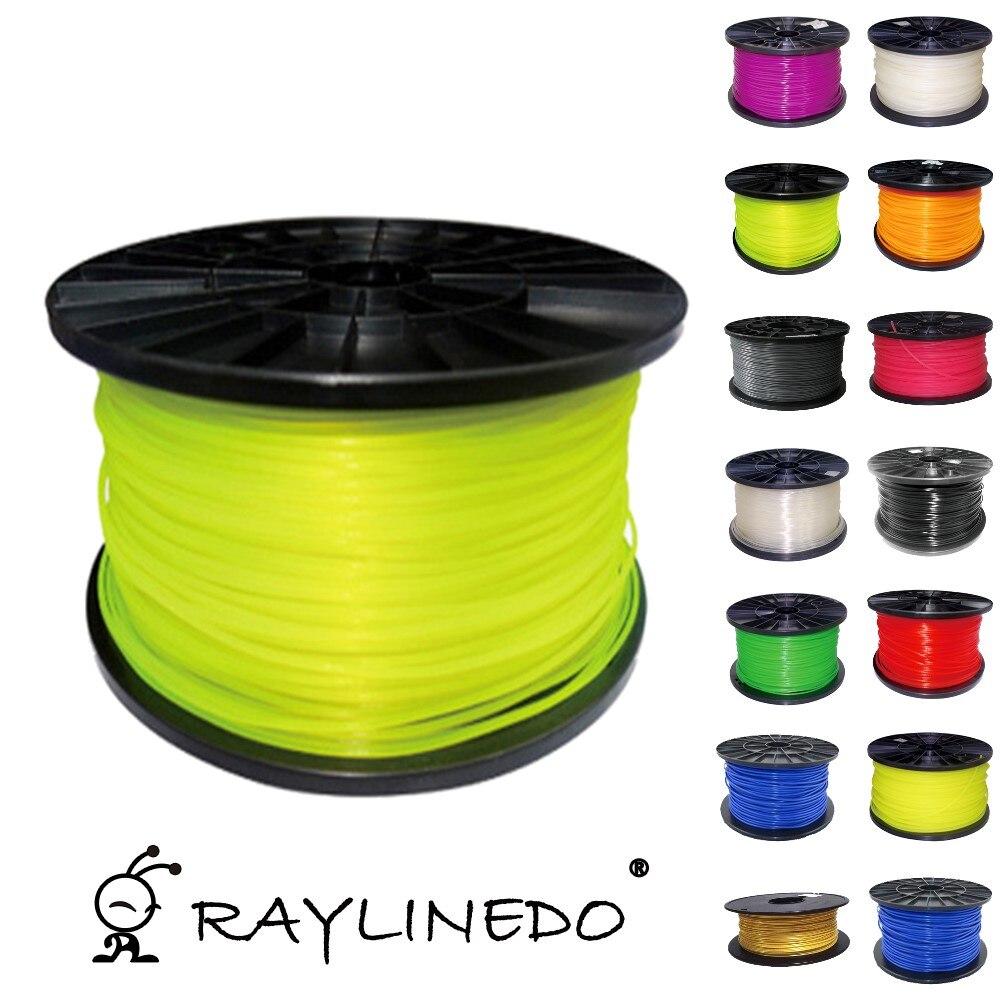 Fluorescent Green 1Kilo-2.2Lb Quality PLA 1.75mm 3D Printer Filament 3D Printing Pen Materials