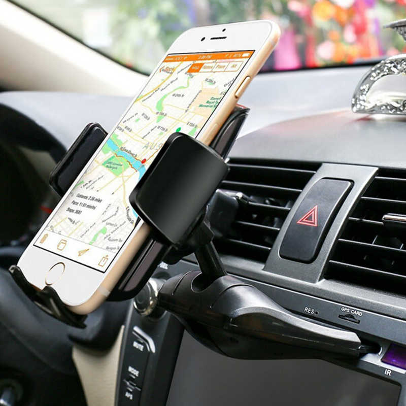 Cell Phone Stand CD Slot Car Holder For iPhone 8 Xiaomi 4a Redmi 4x For Car Phone Holder Cd Smartphone Mount Holder