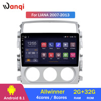2G RAM 32G ROM 9 Inch Android 8.1 Car Dvd Gps Player for Suzuki LIANA 2007 2013 With Radio Navigation Bt Wifi