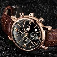 2019 LIGE Business Leather Fashion Waterproof Quartz Watch For Mens Watches Top Brand Luxury Male Date Clock Relogio Masculino недорого