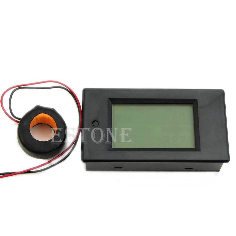 AC 80-260V LCD Digital 100A Volt Watt Power Meter Ammeter Voltmeter 110V 220V voltmeter ammeter ac 110v 220v 20a 100a ac current voltage meter watt kwh monitor power factor frequency meter