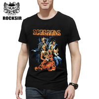 Rocksir 2017 Simple Design Band T Shirt Scorpions A Savage Crazy World Classic Heavy Metal Rock
