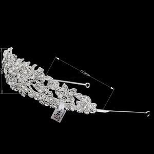 Image 3 - Alta qualidade cristal nobre flor nupcial tiara coroa headbands casamento jóias acessórios para o cabelo feminino frete grátis 4714