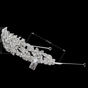 Image 3 - Di Alta Qualità di Cristallo Nobile Del Fiore da Sposa Tiara Crown Fasce Monili di Cerimonia Nuziale Accessori per Capelli Delle Donne di Trasporto Libero 4714