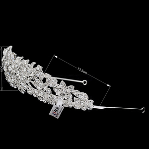 Image 3 - High Quality Crystal Noble Flower Bridal Tiara Crown Headbands Wedding Jewelry Hair Accessories Women Free Shipping 4714