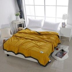Edredón suave y transpirable de tela escocesa para colcha de aire acondicionado de verano sólido de Alanna