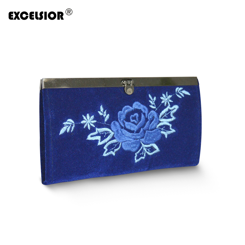 EXCELSIOR Women Ethnic National Retro Flower Bags Handbag Coin Purse Embroidered Lady Clutch Tassel Small Flap Summer Bolsa Sale retro tiny bell tassel anklet for women