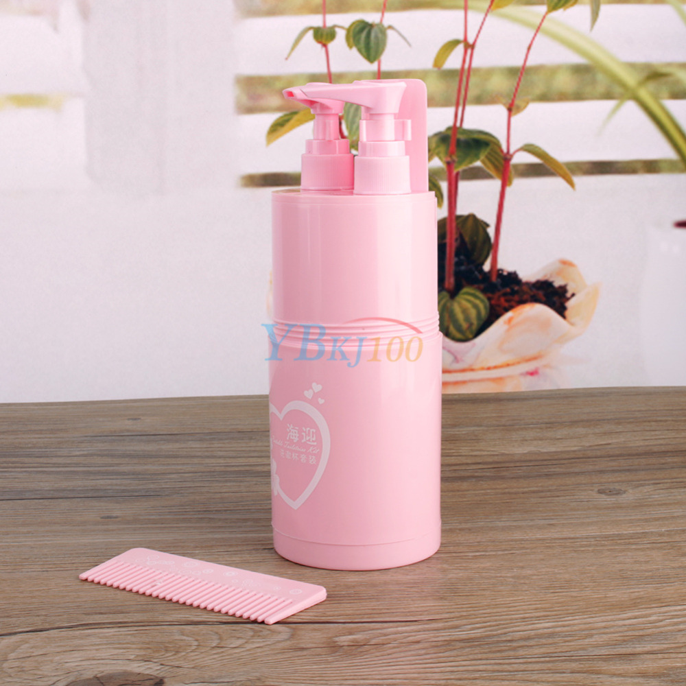 Hello kitty bathroom accessories - 2016 New Arrival Travel Bathroom Wash Set Toothbrush Holder Waterproof Portable Home Bathroom Accessories Set Pink