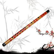 Free shipping Traditional Long Bamboo Flute Clarinet Student Musical Instrument 7 Hole 42.5cm