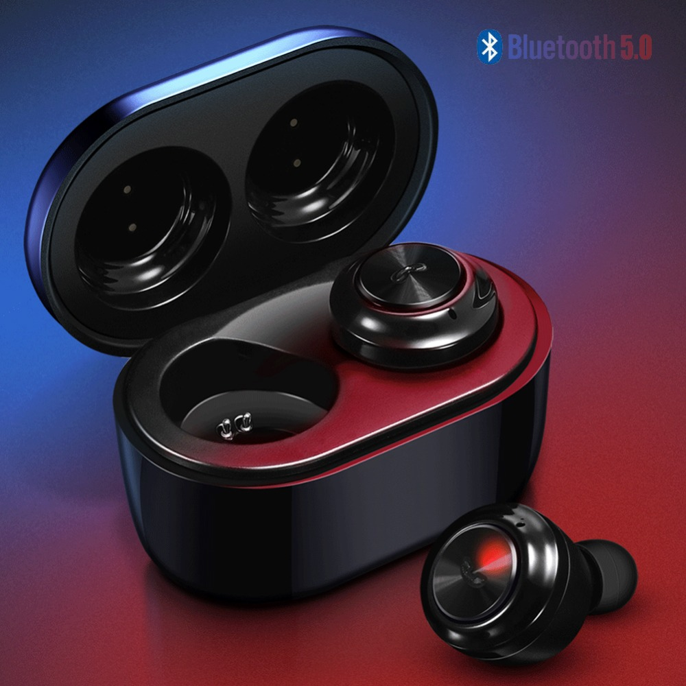 TWS Bluetooth 5 0 Earphone Stereo Wireless Earbuds HIFI Waterproof Sport Earphones Handsfree Gaming Headset with Mic Charge Case in Bluetooth Earphones Headphones from Consumer Electronics