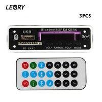 LEORY 3PCS Bluetooth MP3 Decoder Board Audio Module 12V MP3 WMA DAC Wireless Decoding Board With