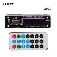 LEORY 3PCS Bluetooth MP3 Decoder Board Audio Module 12V MP3 WMA DAC Wireless Decoding Board With
