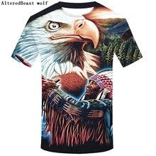 de6f7e02 New arrival funny t shirt men women Indian and eagle 3D color printed tshirts  unisex summer tops streetwear casual hip hop shirt