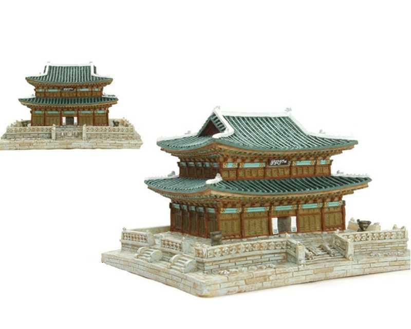 South Korea Changdeokgung Palace Creative Resin Crafts World Famous Landmark Model Tourism Souvenir Gifts Collection
