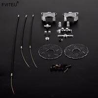 FVITEU Metal Rear Wheel Wire Brake Cable Brake Set for 1/5 hpi rovan baja 5b SS 5sc king motor