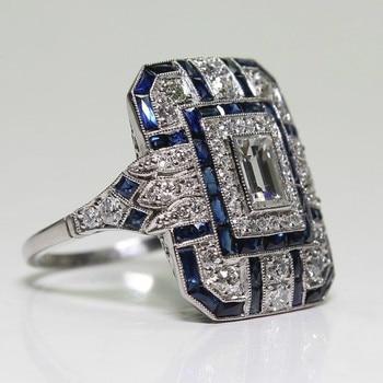 Fashion Square White Zircon Ring 1