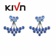 KIVN Fashion Jewelry Stunning CZ Cubic Zirconia Bridal Wedding Earring Ear Jackets for Women Birthday Christmas Gifts