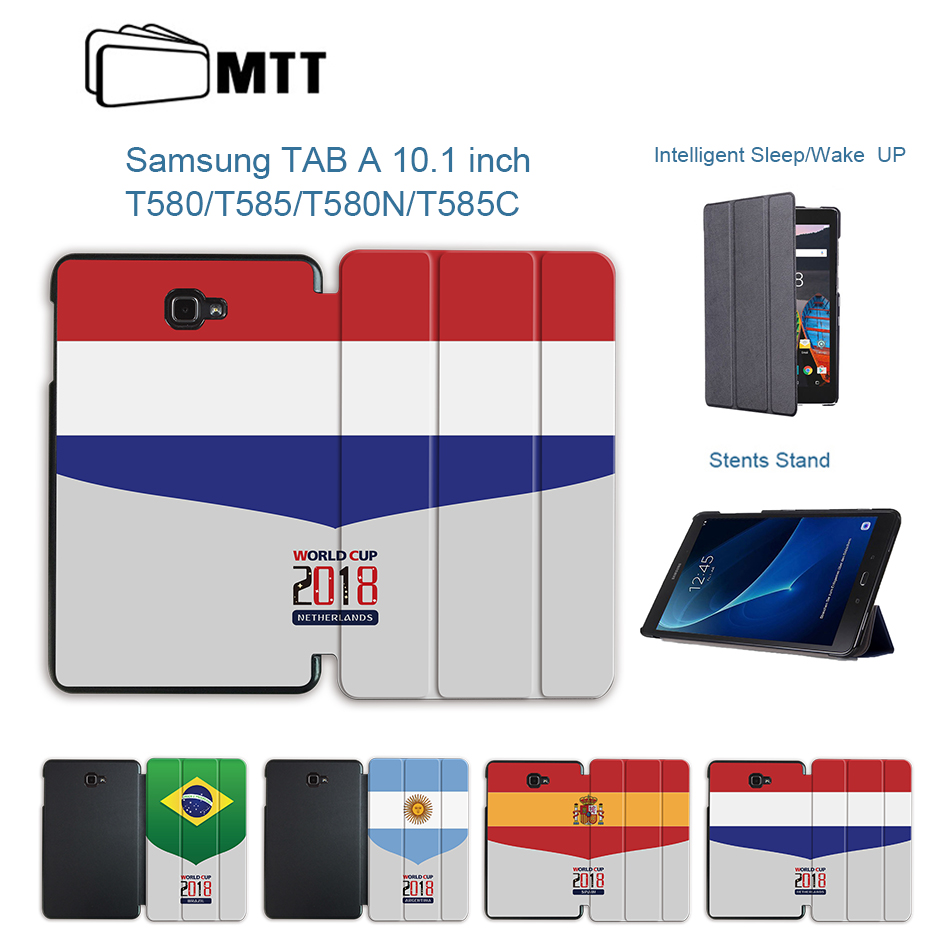 2018 world soccer Cup Stand Leather Protective Cover for Samsung Galaxy Tab A A6 10.1 2016 SM-T580 T580N T585 T585C Tablet Case