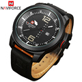 Naviforce reloj de hombre reloj de cuarzo reloj hombres marca de lujo de cuero ejército militar reloj de pulsera relogios masculinos reloj hombre 2016