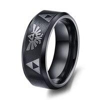 Hot Sale LEGEND Of ZELDA Ring Matte Finish Black Men S Titanium Steel Wedding Ring For
