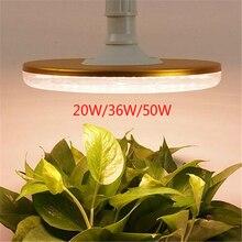 20 w 36 50 ufo led crescer espectro completo de luz à prova dwaterproof água quente branco e27 phyto lâmpada para o crescimento da planta ao ar livre indoor crescer tenda