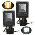 LED Flood Light IP65 10W PIR Motion Sensor Warm/Cold White Lighting