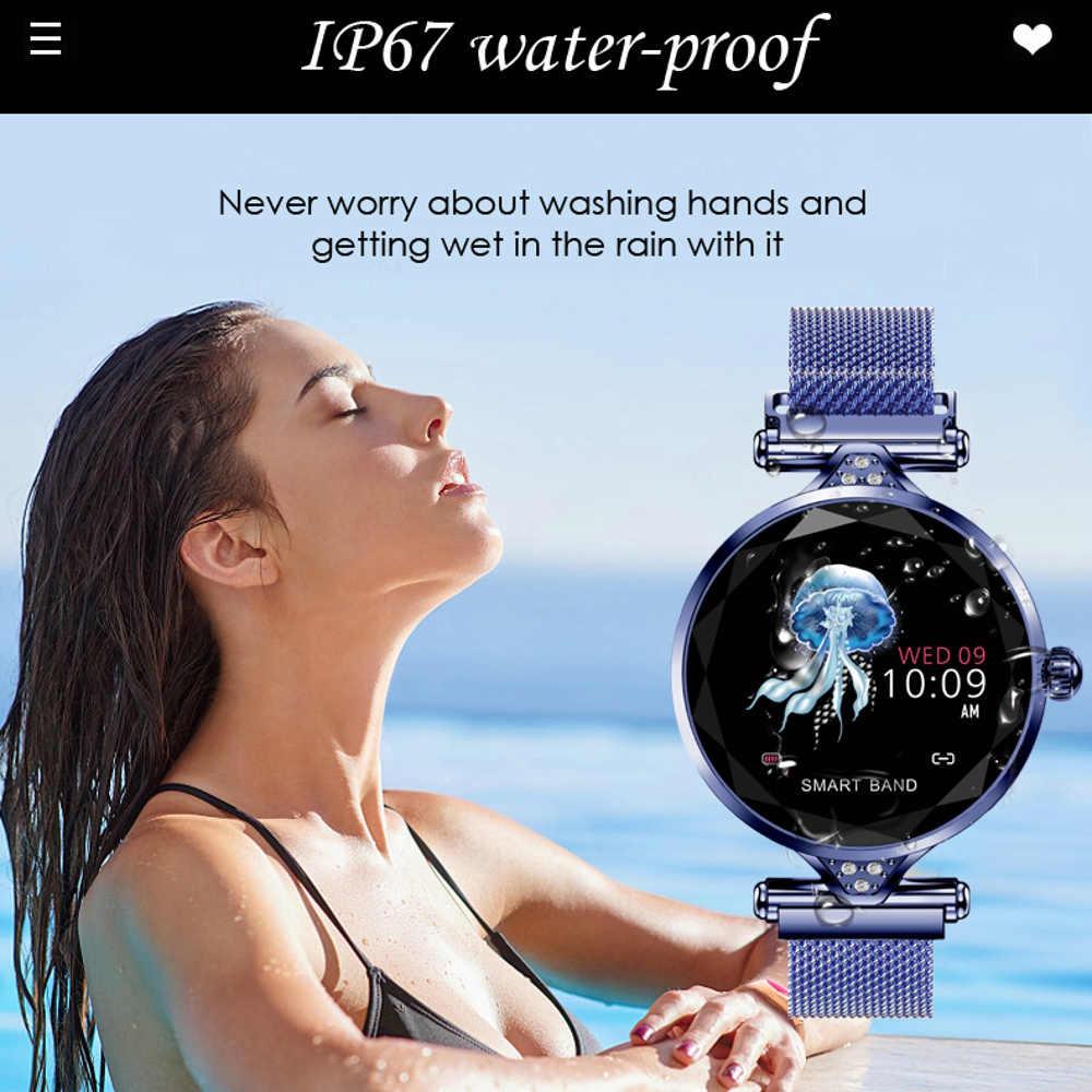 LEMFO 2019 новые роскошные умные часы женские спортивные IP67 водонепроницаемые Bluetooth для Android IOS Iphone Smartwatch подарок для девушки