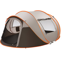 Fast Pitch Dome Tent for 3 4 Person Automatic Instant Pop Up Lightweight Tents for Family Camping Hiking with Anti Mosquito Door