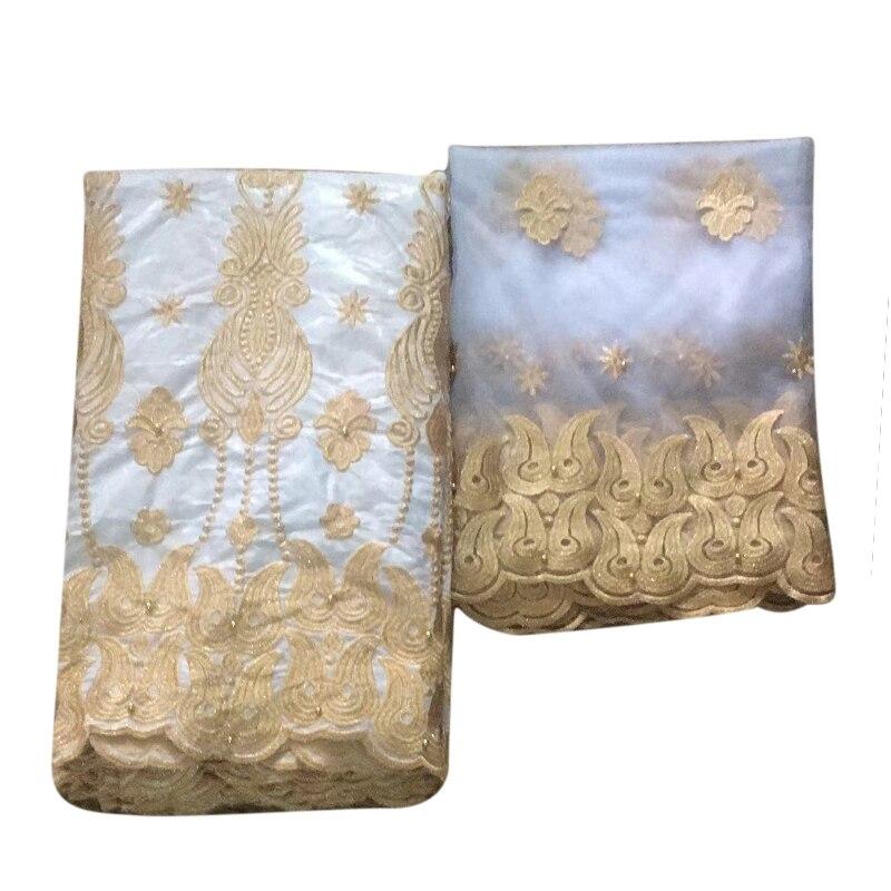 Nouvelle conception perlée africaine cordon dentelle tissu avec pierres suisse dentelle tissu haute qualité nigérian coton dentelle FabricHA303-1