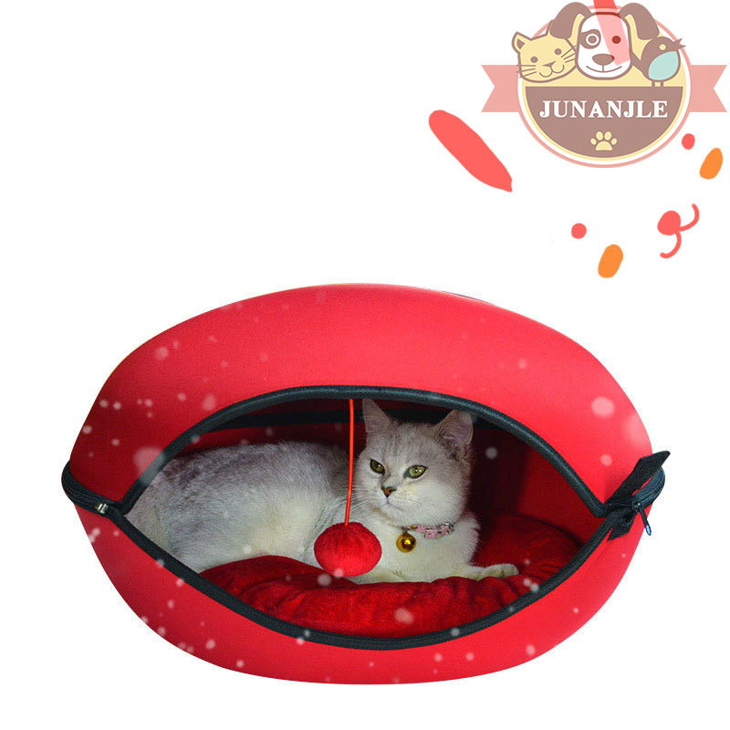 Dual Purpose Cat Multi color Bed Pet Cat Egg shaped House Can Be Dismant Kitten Mat Pet Supplies Cats Products for Pets