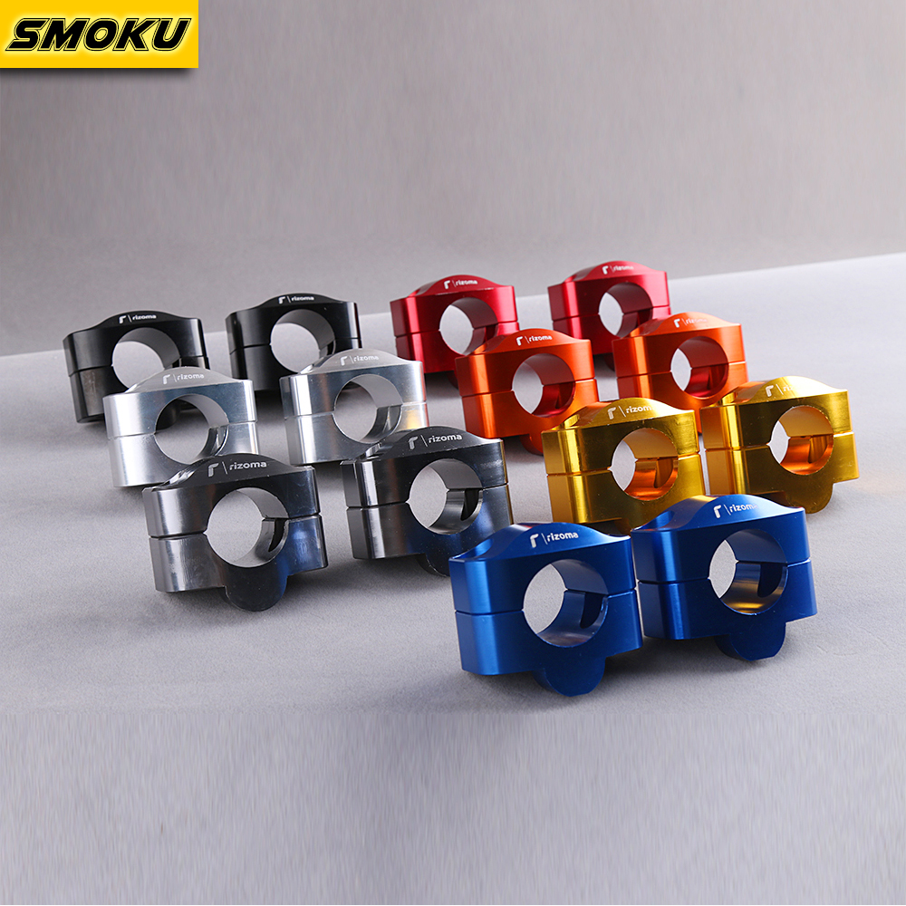 Rizoma Universal Handlebar Transfer Code Briquettes Fixed Code Clip Code Holder Riser Clamps Fit 1-1/8''28mm handlebar clamps