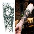Nova tatuagem de flor impermeável 3D etiqueta do tatuagem temporária corpo de tatuagem masculino mulheres Body Paint mecânico Rocker tatuagem