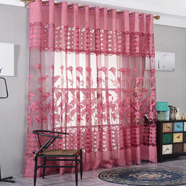 European style curtain tulle fabrics modern jacquard design home ...