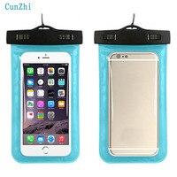 Cunzhi Miękkiego PVC 100% Sealed Wodoodporne Etui Do Apple iphone 8 7 6 5 4 Przypadku Może Dotknąć Torba Podwodne