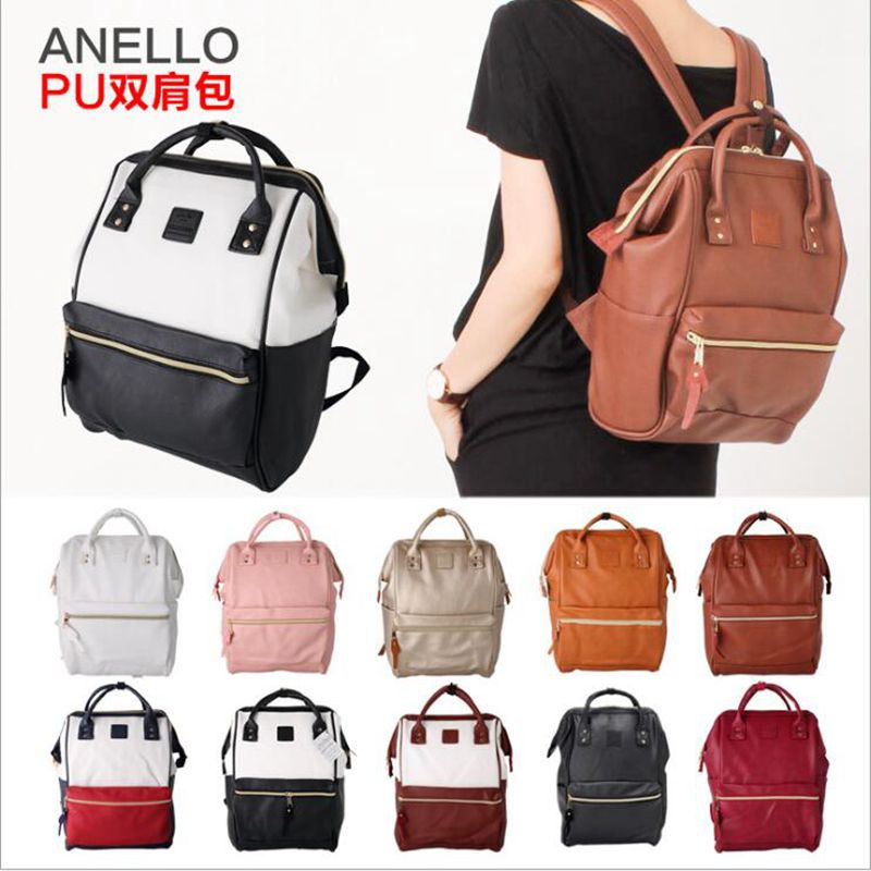 Pu Leather Ring Backpack School Bags For Teenagers Male Anello Backpack Sac A Dos Women Mochila Zaino Rucksack Seljakott
