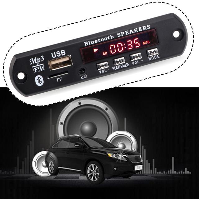 High quality Wireless Bluetooth 12V MP3 WMA Decoder Board Audio Module USB TF Radio For Car accessories