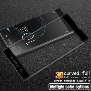 Image 4 - Für Sony Xperia XA1 3D Gebogene Volle Abdeckung Gehärtetem Glas für Sony XA1 G3112 G3116 Dual Sim Screen Protector Schutz film