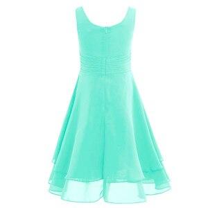 Image 4 - Iiniim פרח בנות שמלת שיפון מסוקס גבוהה מותן נסיכת שמלת ילדים נוער תחרות יום הולדת מסיבת Vestidos שמלות נשף