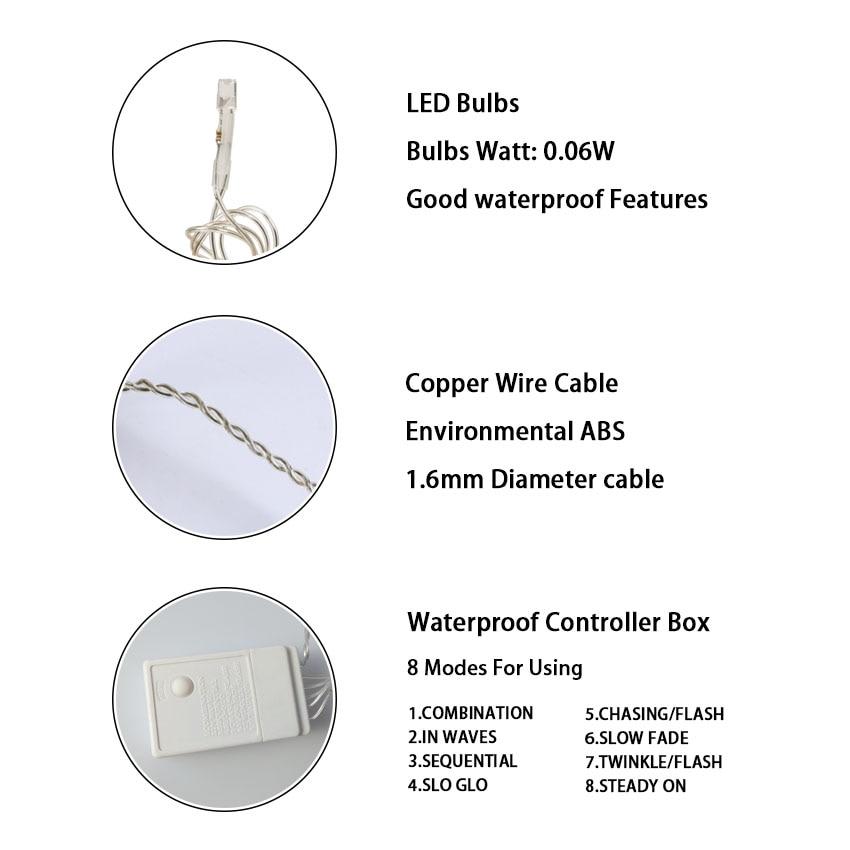 10 * 4m 1280 Żarówki LED Kurtyny girlanda ciąg światło boże - Oświetlenie wakacje - Zdjęcie 5