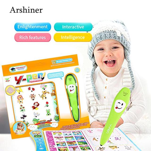 US $10 89 10% OFF|Kids Children Common Sense Cognitive Intelligence  Learning Pen Educational Toys OverBaby girls and boys-in Learning Machines  from