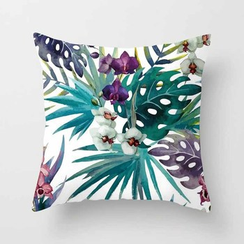 Teal Tropical Cushion Covers