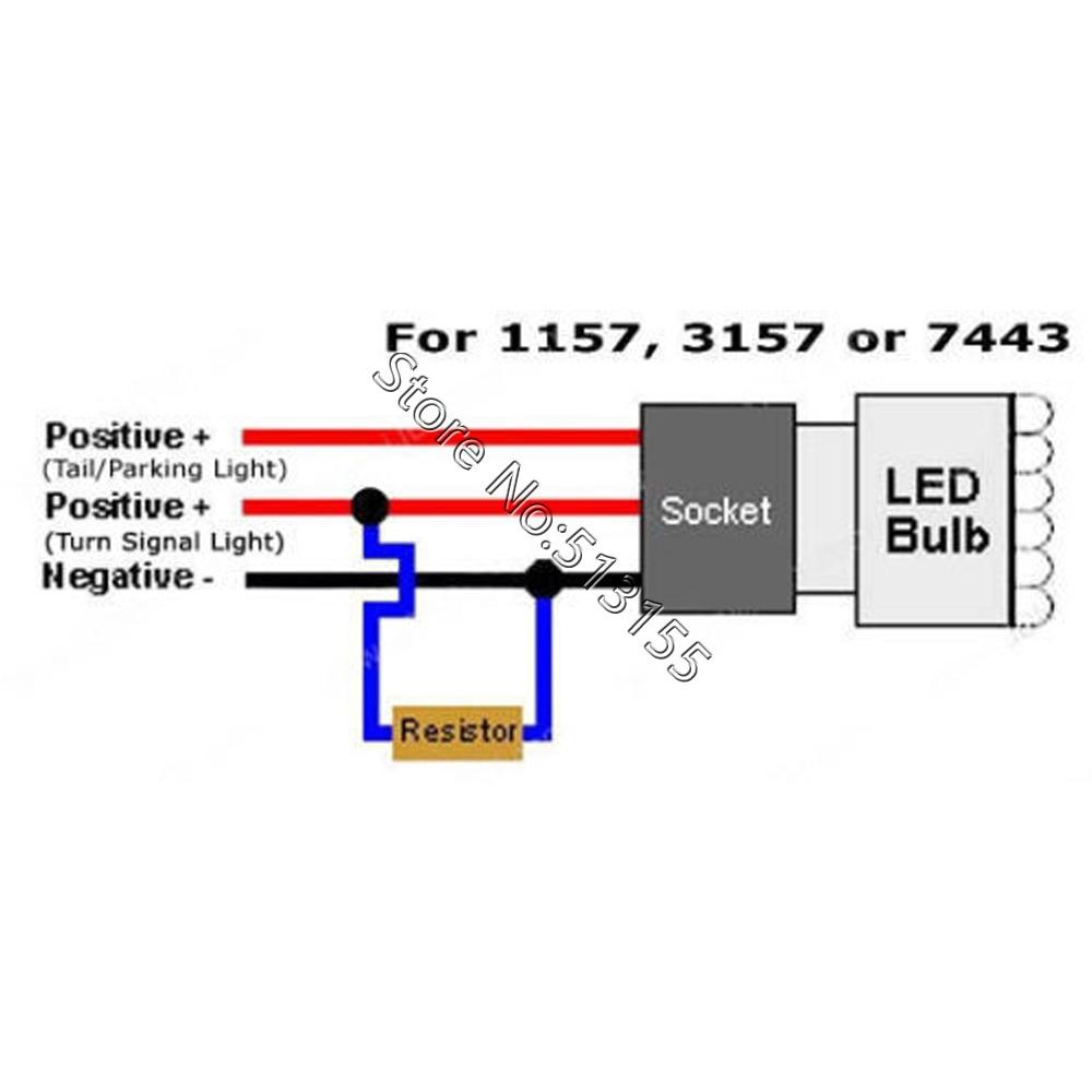 2x 50w 6ohm led load resistor fix led bulb fast hyper flash turn signal blink  [ 1000 x 1000 Pixel ]
