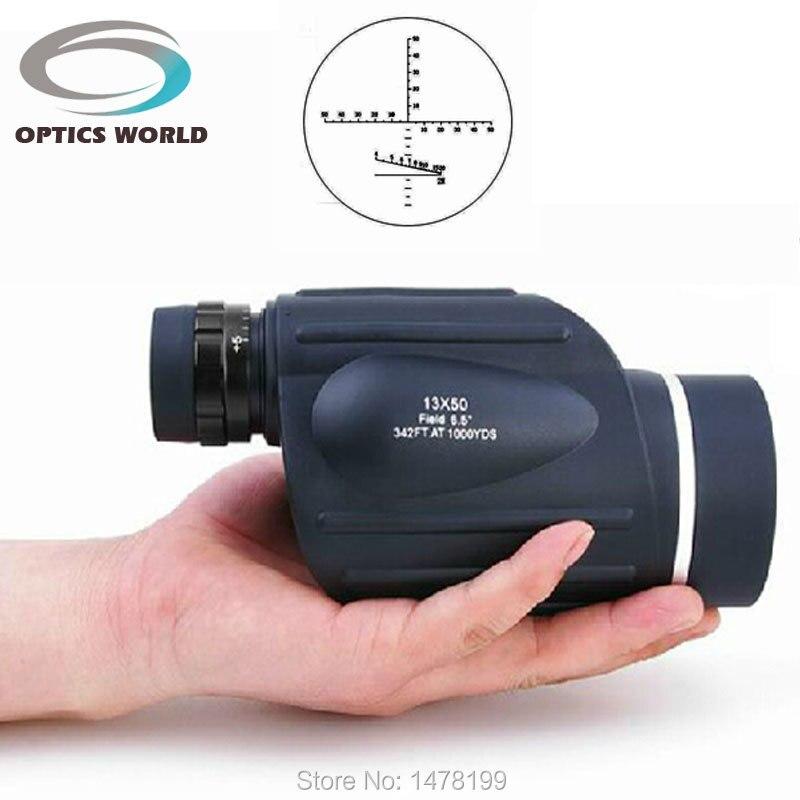 Гому 13x50 дальнометр Тип Монокуляр Дальномер бинокль водонепроницаемый телескоп открытый binoculo 114 м/1000 м