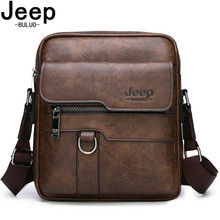 JEEP BULUO Man Leather Bag Shoulder Crossbody Bags For Men Cow Split Leather Male iPad Business Messenger Tote Bag Drop Shipping jeep buluo brand high quality pu leather cross body messenger bag for man ipad famous men shoulder bag casual business tote bags