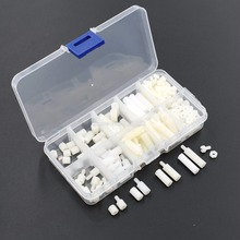 200PCS/LOT M3 Nylon White M-F Hex Spacers Screw Nut Male Female Assortment Kit Stand off Set M3*6mm M3*10 M3*15 M3*20mm