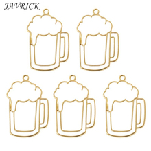 купить 5Pcs Beer Tumbler Resin Blank Frame Pendant Open Bezel Setting Jewelry Making дешево