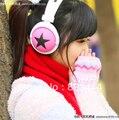 Nova Moda Big Star Earphone Headphone para MP3 MP4 Celular Laptop Vermelho Azul Branco Preto Verde