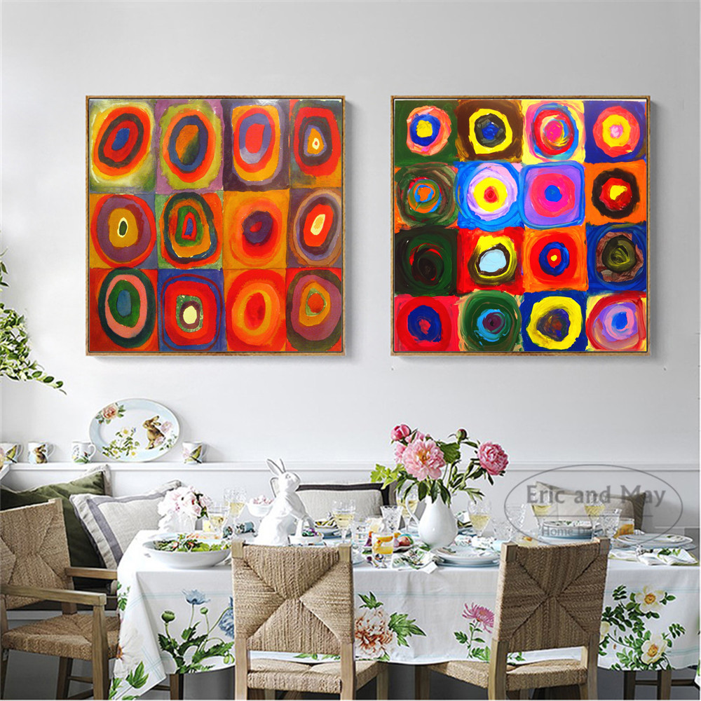 Kandinsky Kids Circle Kunstverk Lerret Kunsttrykk Maleri Plakat Wall Pictures For Room Home Dekorativt Bedroom Decor No Frame