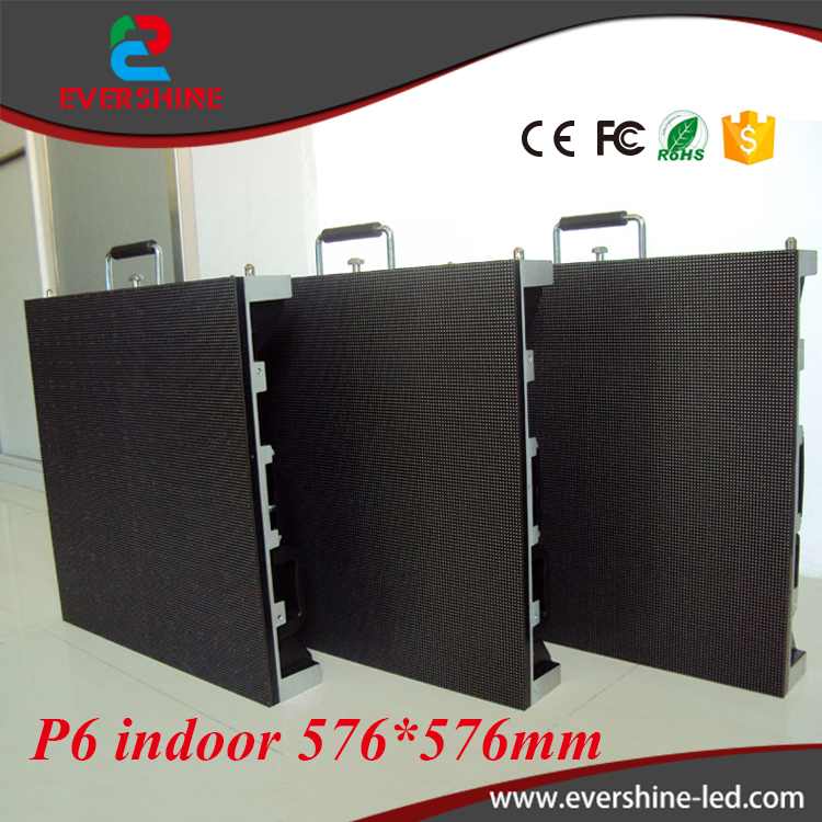 p6 Smd3528 Full Color HD LED Display Screen P6 indoor Led video p6mm Display Cabinet 576x576mm free shipping p5 indoor smd 3in1 full color led panel display module 1 16scan 320 320mm
