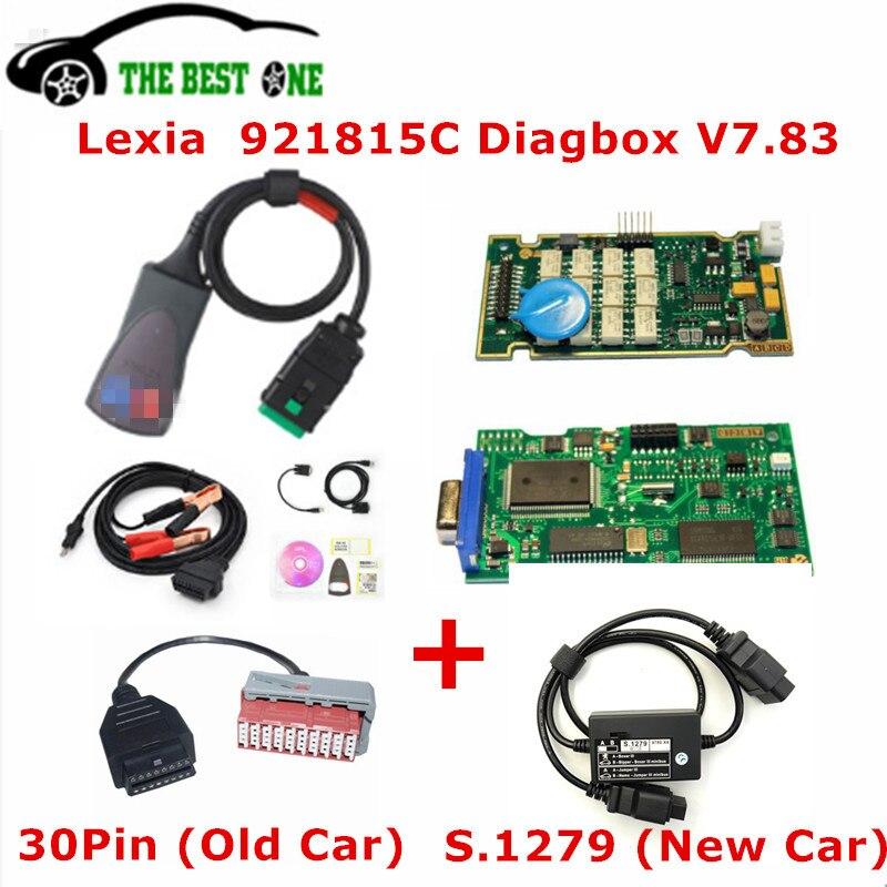 TOOGOO Version Lexia3 Pp2000 avec Diagbox V7.83 avec Puce NEC pour Citroen Peugeot HC